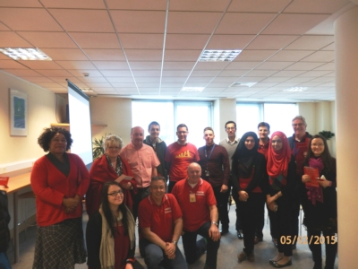 Some of the people trained at GE Energy in Bracknell