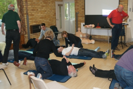 Group Practice of the Recovery Position - Swallowfield April 2014