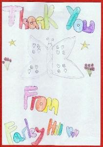 Thank you card -Farley Hill